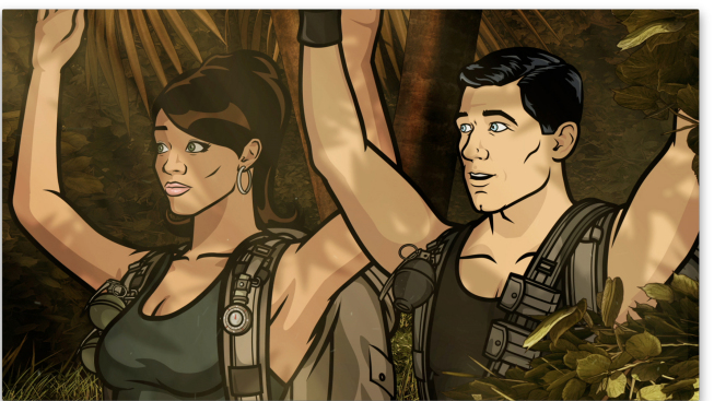 Lana Kane and Sterling Archer in 'Archer'