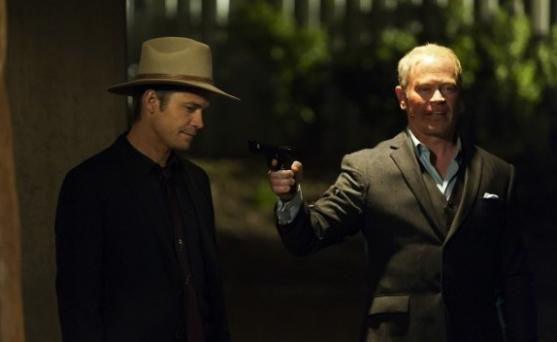 Timothy Olyphant and Neal McDonough in 'Justified'