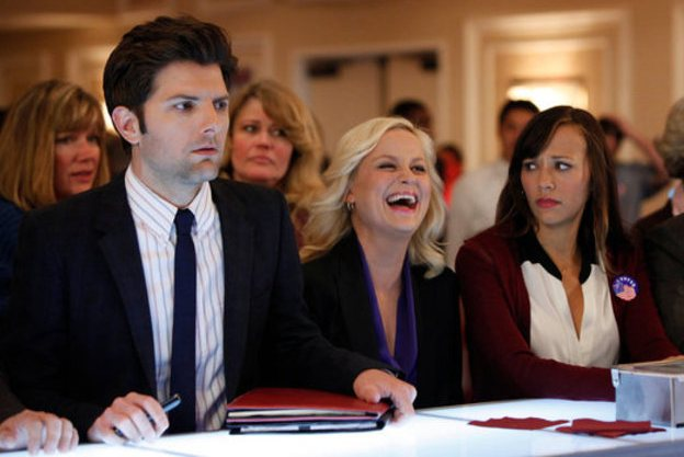 Adam Scott, Amy Poehler, and Rashida Jones in 'Parks and Recreation'