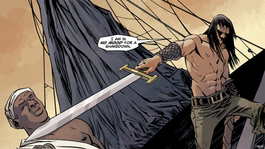Conan in 'Conan the Barbarian' #11. Art by Declan Shalvey.