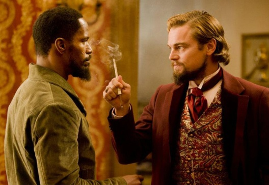 Jamie Foxx and Leonardo DiCaprio in 'Django Unchained'