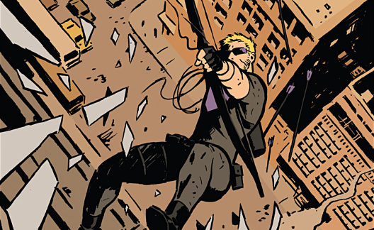 Hawkeye in 'Hawkeye' #1. Art by David Aja.