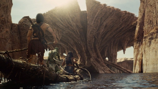 Taylor Kitsch and Lynn Collins in 'John Carter'