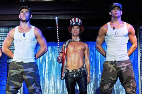 Alex Pettyfer, Matthew McConaughey, and Channing Tatum in 'Magic Mike'
