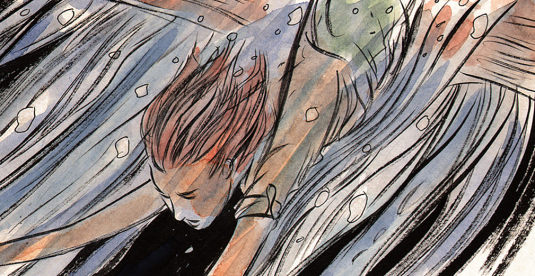 Meru in 'Mind MGMT' #3. Art by Matt Kindt.