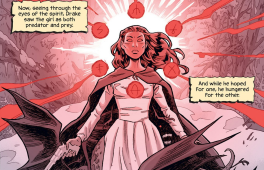 Becky in 'The Sixth Gun' #27. Art by Brian Hurtt.