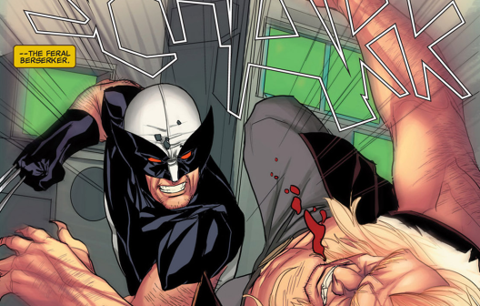 Wolverine and Sabretooth in 'Uncanny X-Force' #32. Art by Phil Noto.