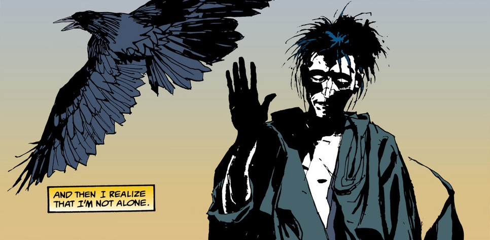 Art from 'The Sandman: Fear of Falling' by Kent Williams and Sherilyn Van Valkeburgh.